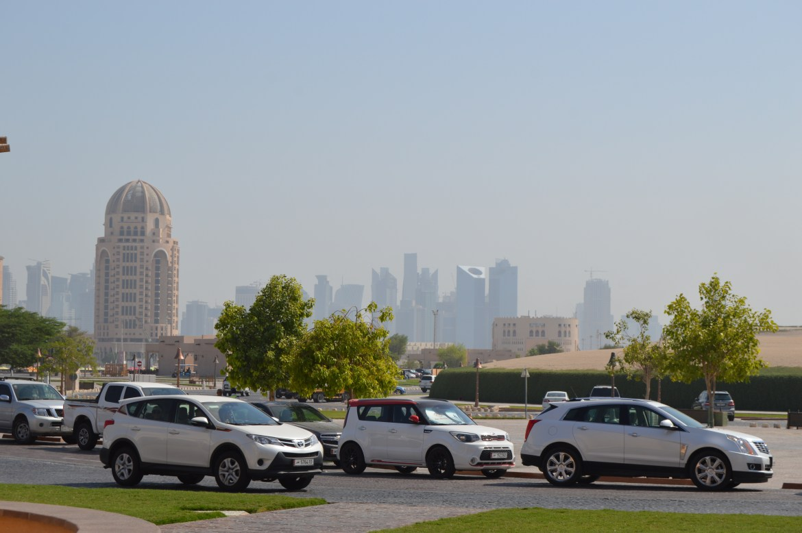 View of Doha's Skyline from Stop 2