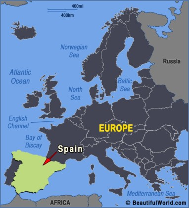 Map of Spain   Facts   Information   Beautiful World Travel Guide Map of Spain