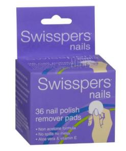 Swisspers Nail Polish Remover Pads 36pk