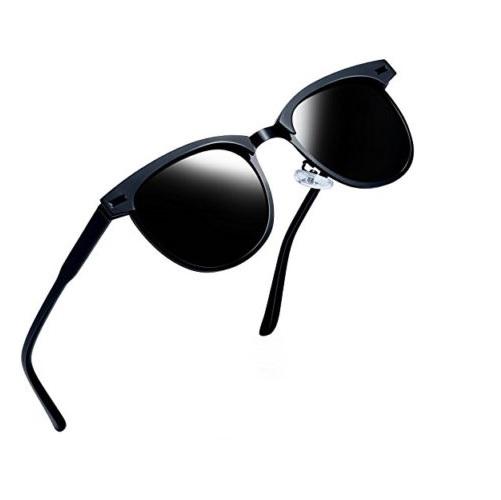 48c3c9a89e1 Joopin Semi Rimless Polarized Sunglasses Women Men Retro Brand Sun Glasses  - Beautiphora