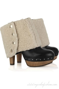 marni-shearling-cuff-leather-clogs-fashion-trends-2011-spring