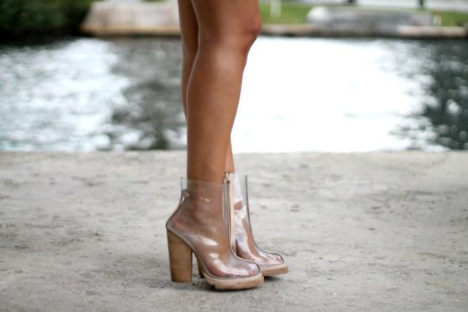 transparent rain boots