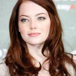 russet hair, pale skin - Emma Stone