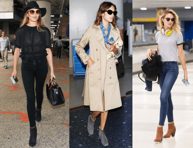Ankle boots as airport travel shoes