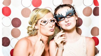 Party girls with eye masks