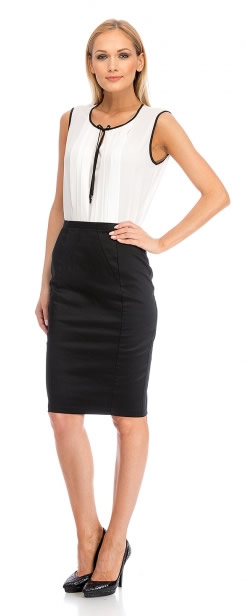 Knee-Length Black Skirt