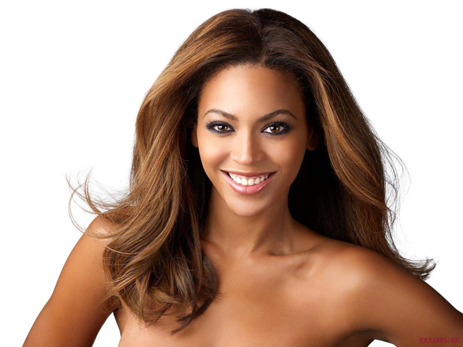Beyonce dark skin - white background