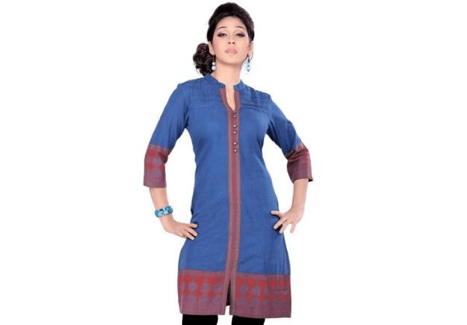 Kurti for inverted triangle shaped bodies