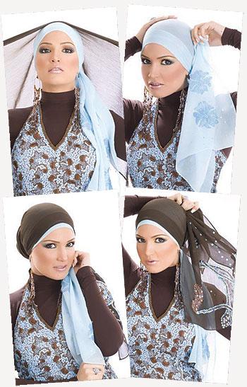طريقه لف حجاب الراس خطوه خطوه