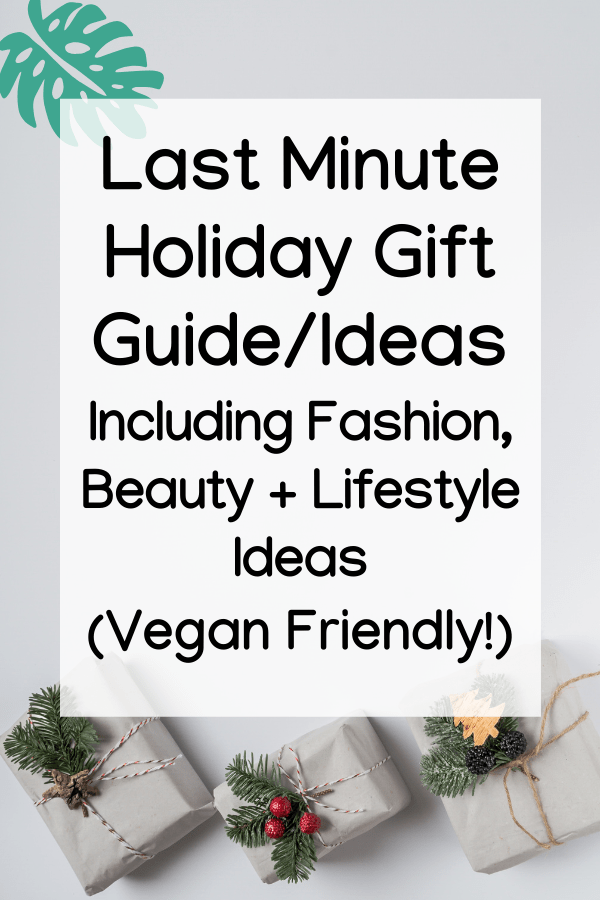 Vegan Holiday Gift Guide Christmas fashion beauty