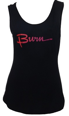 BURN Sleeveless Logo Tank AED 135