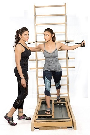 Yasmin Karachiwala, celebrity trainer and Alia Bhatt, bollywood actress