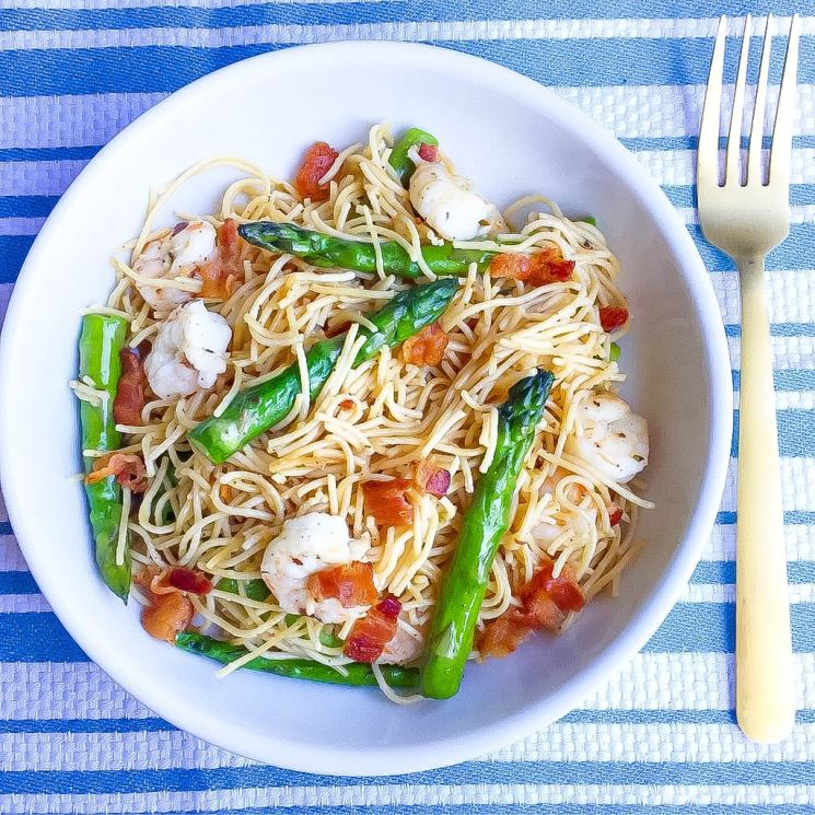 bacon shrimp pasta