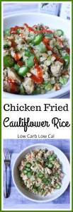 A healthy, low carb alternative to chicken fried rice!