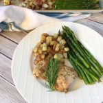 Healthy Chicken Sheet Pan Meal with Asparagus & Potatoes