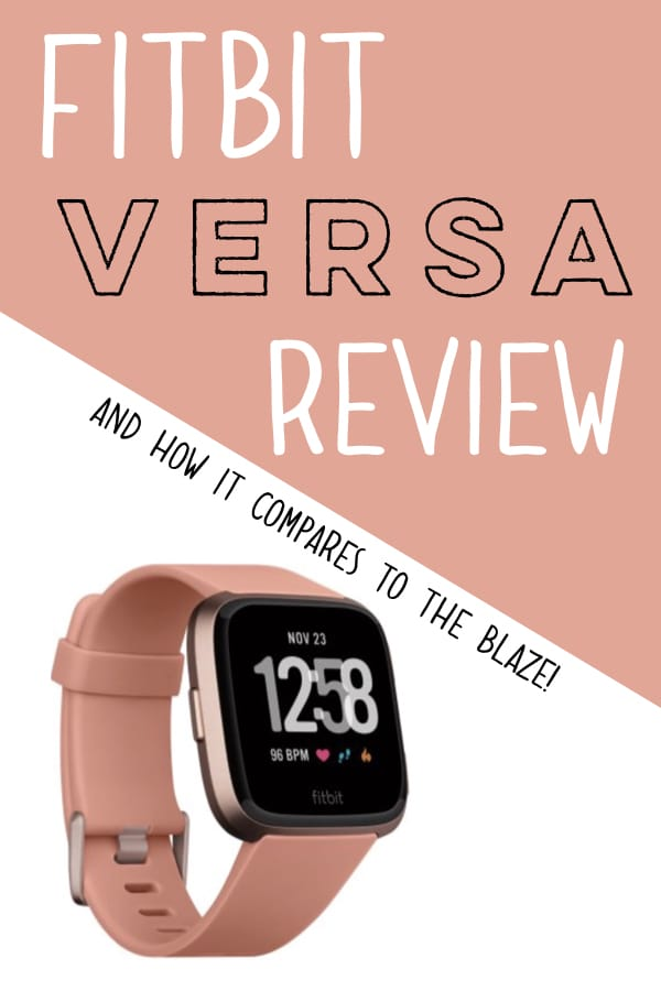 My review of the Fitbit Versa and how it compares to the Fitbit Blaze! I love using fitness trackers to help aid in my weight loss efforts and Fitbit's have been my favorite brand. Here I share my first impressions of the new Versa. #fitbit #fitbitversa