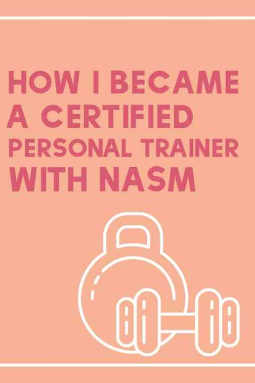 I started out at almost 300 pounds and never imagined the day would come that I would become a personal trainer! Here are the steps I followed to obtain my personal training certification through NASM #weightloss