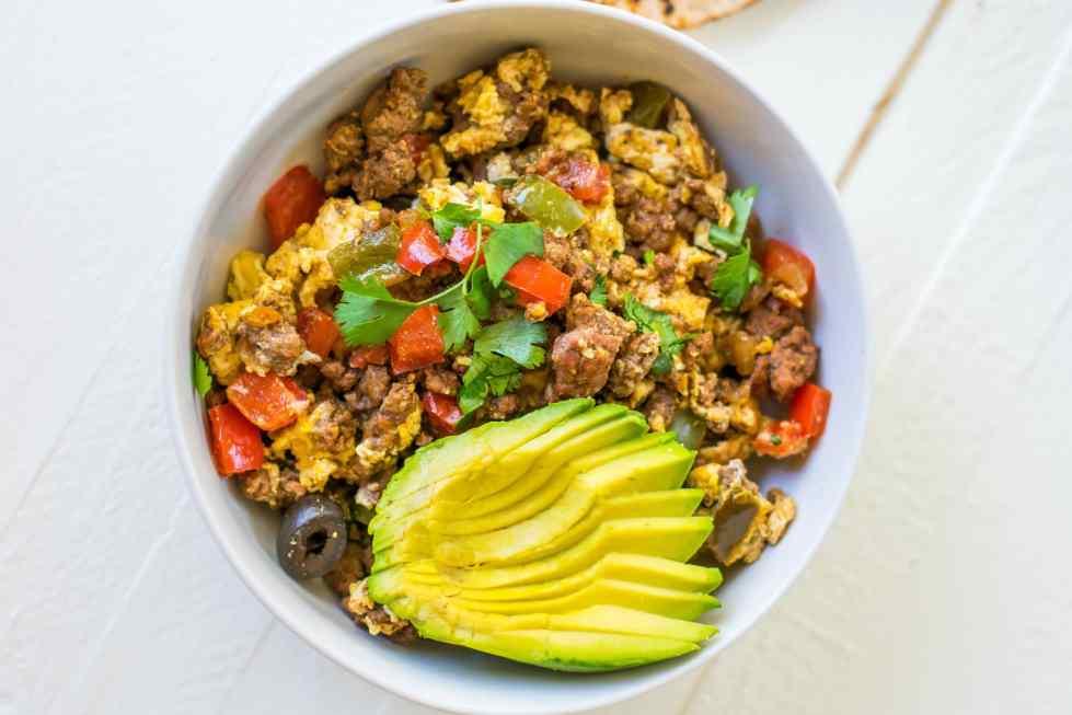 meal prep taco breakfast scramble