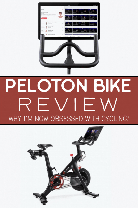 My full in-depth review of the Peloton bike. It's like having your own cycling studio at home! Thanks to this bike I am obsessed with cycling and here are all the reasons I love it! Along with a a thing or two to consider before buying. #peloton #pelotonbike