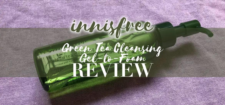 5e3374032fa Innisfree Green Tea Gel-to-Foam Cleanser Review - Beauty Beyond Twenty