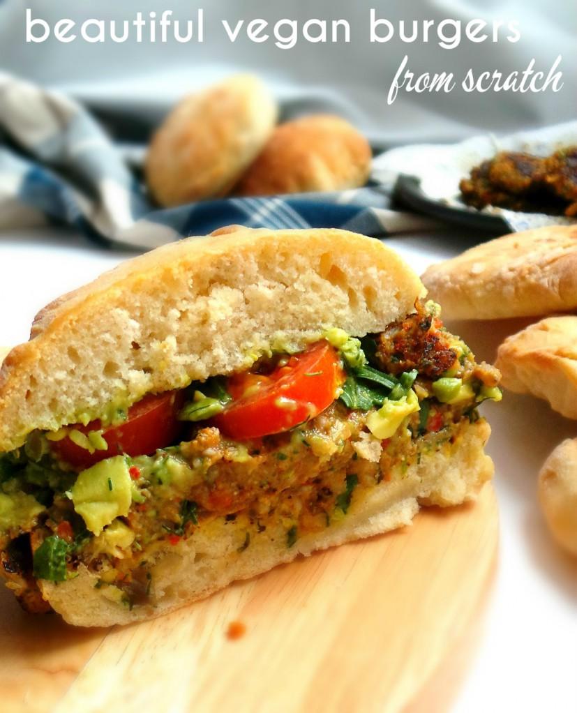 Vegan burgers with mushrooms - Beauty Bites