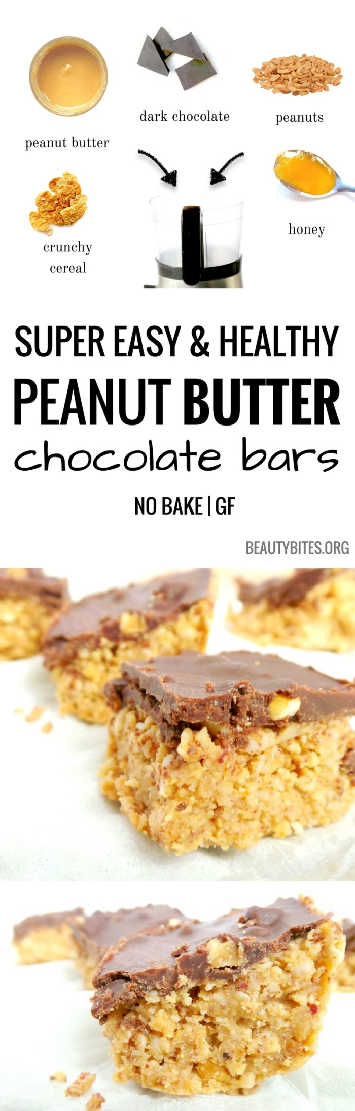 Chocolate peanut butter bites - an easy and delicious healthy treat! Loved these as a healthy snack or even as dessert - definitely satisfied my chocolate AND peanut butter cravings! | easy healthy snacks | www.beautybites.org