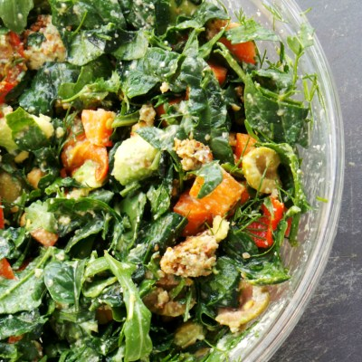 Alkalizing Spinach and Roasted Chickpea Salad