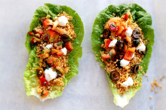 DETOX LETTUCE WRAPS WITH HOT MILLET - GLUTEN-FREE AND VEGAN