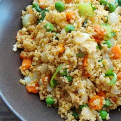 Vegetable Fried Millet (Vegetarian and Gluten-Free)