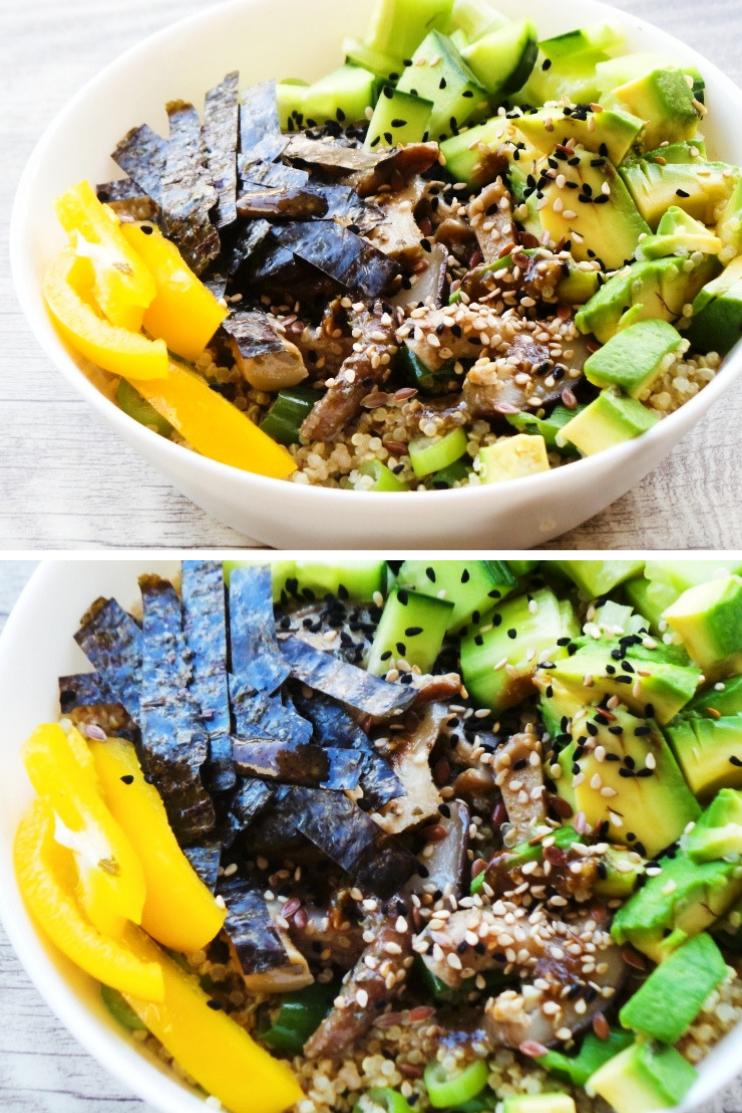 Vegan Quinoa Sushi Bowl