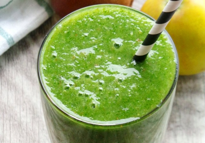 It's a Green Smoothie With Kiwi and Apples, Cheers!