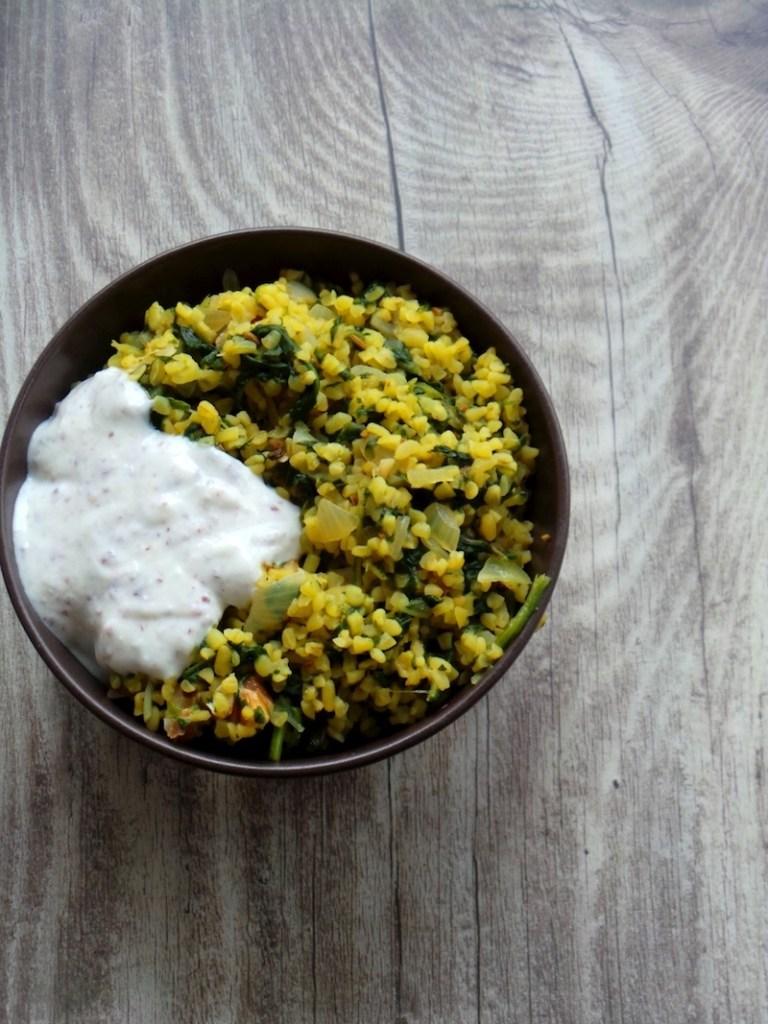 Simple Bulgur and Spinach Recipe