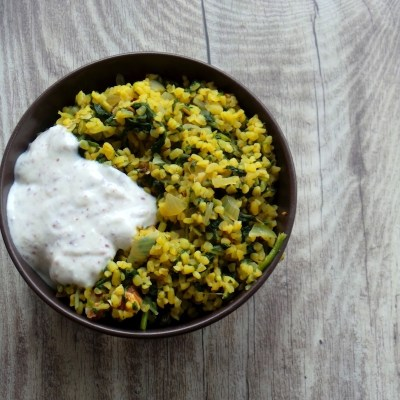 Simple Bulgur and Spinach Dinner Recipe
