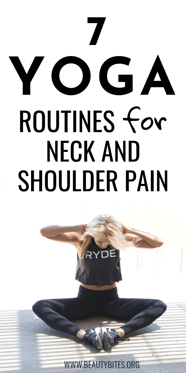7 Yoga routines for neck and shoulder pain! Stretch the muscles and relieve pain by following the instructions in these yoga videos! | yoga for beginners | yoga for flexibility
