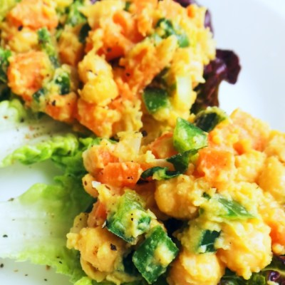 Healthy Mashed Chickpea Salad