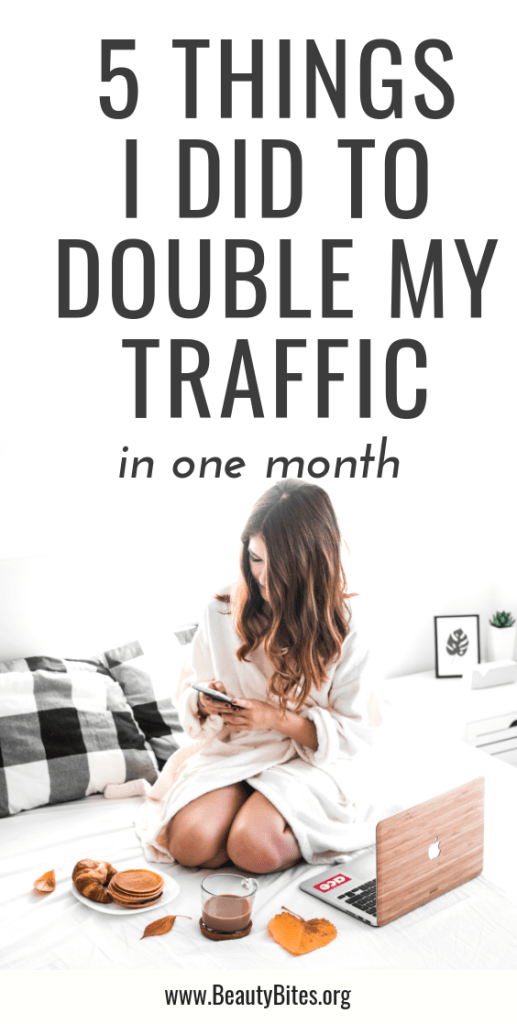 This is how I was able to grow my traffic in a month to over 100.000 page views! I doubled my traffic once again by implementing these blogging tips! You should definitely try these blogging ideas even if you're a blogging beginner or thinking of starting a blog!