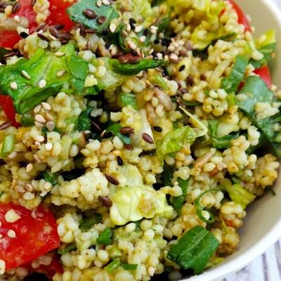 Healthy Summer Salad With Avocado & Millet