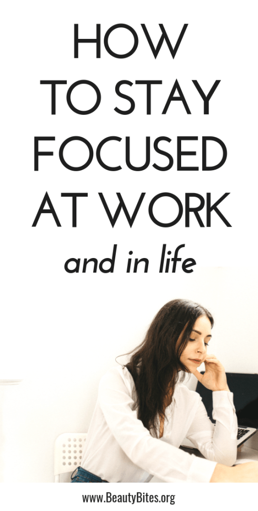 How to stay focused at work and in life, even when there's so much to do and you're kinda overwhelmed! These tips will help you become more productive to achieve your goals!