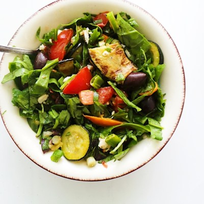 Summer Salad With Grilled Vegetables And Feta