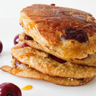 Healthy Cherry Pancakes