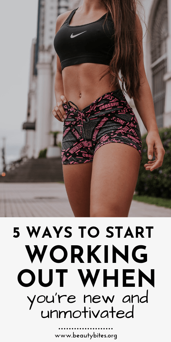 Exercise for beginners! How to start working out when you're a beginner and not actually motivated - these are 5 ways you can start doing some exercise most days of the week. Workout for beginners | #workout #exercise