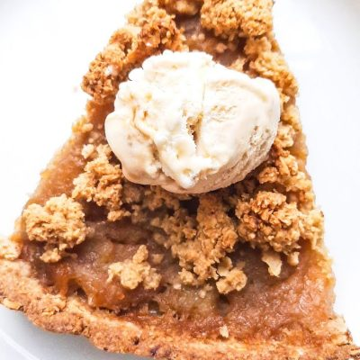 Healthy Homemade Apple Crumble Pie (Flourless, Vegan, GF)