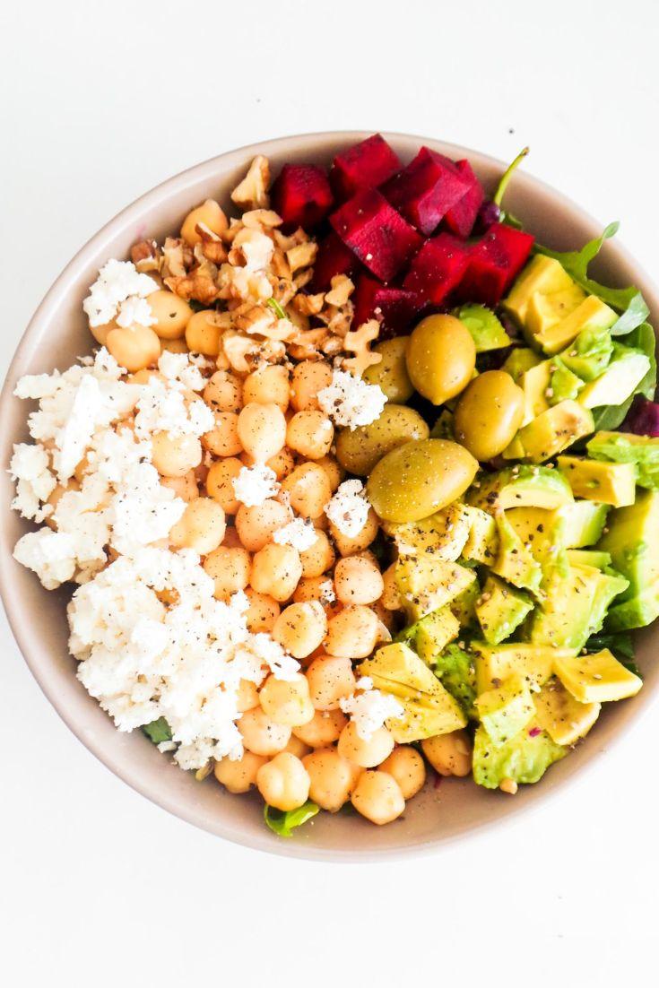 Healthy Mediterranean Chickpea Salad (Winter Salad)