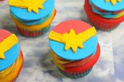Captain Marvel Cupcakes recipe
