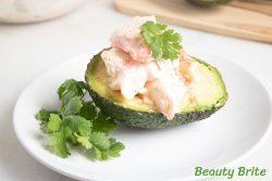 Crab Salad Avocado Halves recipe