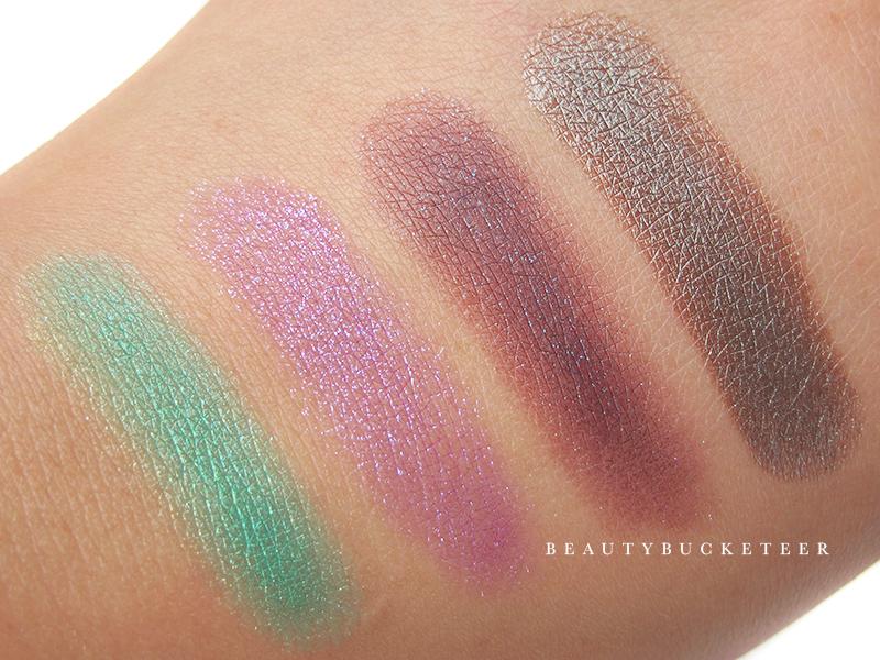 ColourPop Eyeshadows Swatches - Cool