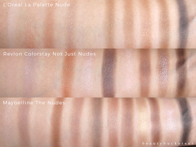 Battle of the Drugstore Nude Palettes Swatches (1)