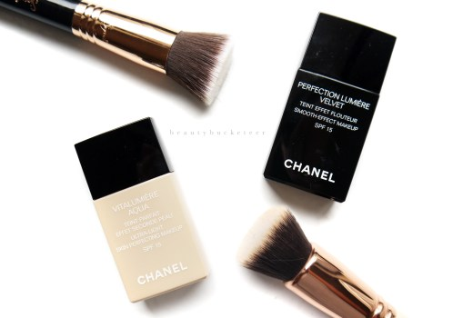 Chanel Vitalumiere Aqua vs Perfection Lumiere Velvet