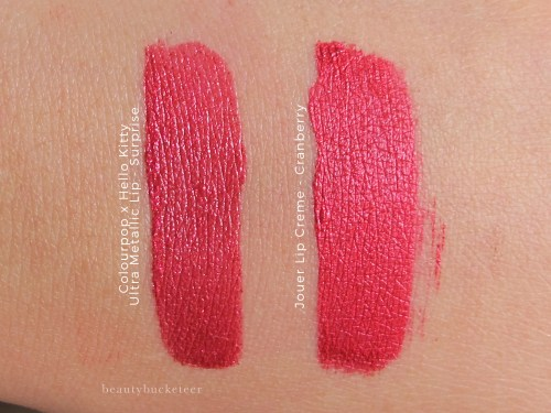 jouer-lip-creme-cranberry-v-colourpop-metallic-surprise