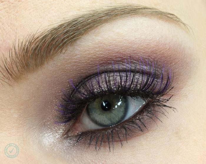 purple smoky eyes look
